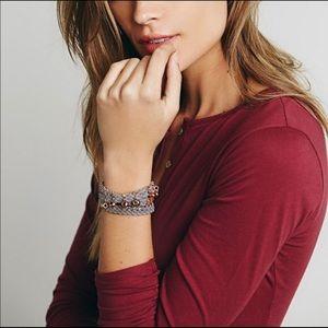 NWOT Wrap Bracelet Leather Vintage Metal Beads